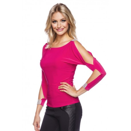Party-Shirt mit Cut Outs pink- AT11917