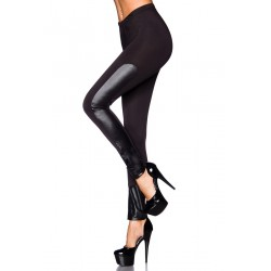 Leggings mit Wetlook-Passagen schwarz - AT13664 Produktbild