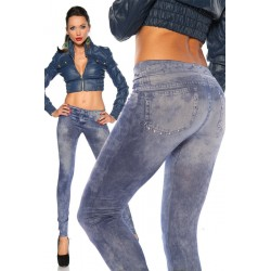 trendy Leggings in Jeans-Optik - AT12924 Produktbild