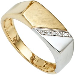 Herrenring Gold bicolor Diamanten - JO45745 Produktbild