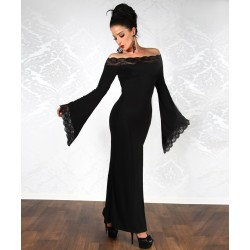 Langes Kleid im Gothic-Style - AT11710